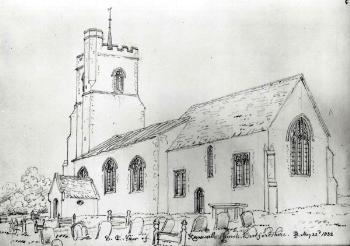 The church in 1822 from the south-east [Z49/1077]